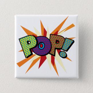 Comic Book Pop Art POP! 2 Inch Square Button