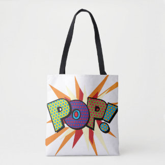 Comic Book Pop Art POP! POW! Tote Bag