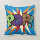 Comic Book Pop Art POP! Throw Pillow