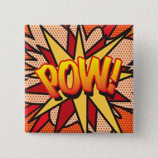 Comic Book Pop Art POW! 2 Inch Square Button
