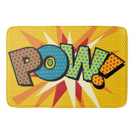 Comic Book Pop Art POW! Bath Mat
