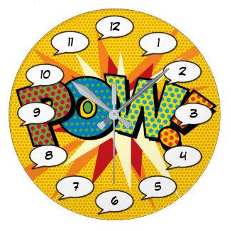 Comic Book Pop Art POW Large Clock
