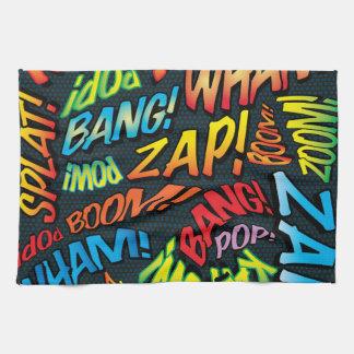 Comic Book Pop Art Sounds Kitchen Towel