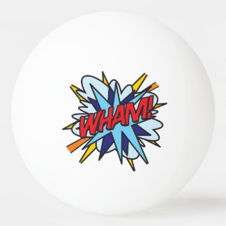 Comic Book Pop Art WHAM BANG Ping Pong Ball