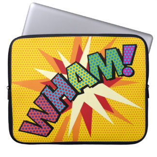 Comic Book Pop Art WHAM! Laptop Sleeve