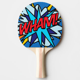 Comic Book Pop Art WHAM! Ping Pong Paddle