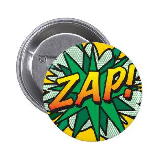 Comic Book Pop Art ZAP! 2 Inch Round Button