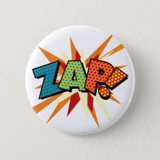 Comic Book Pop Art ZAP! 2 Inch Round Button
