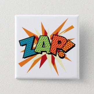 Comic Book Pop Art ZAP! 2 Inch Square Button