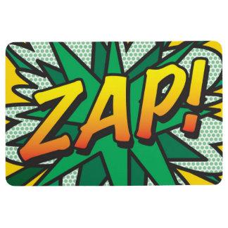 Comic Book Pop Art ZAP! Floor Mat
