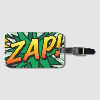 Comic Book Pop Art ZAP! personalised Bag Tag
