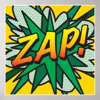 Comic Book Pop Art ZAP! Poster