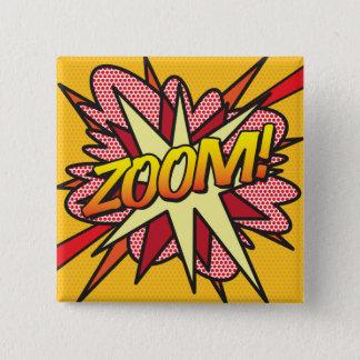 Comic Book Pop Art ZOOM! 2 Inch Square Button