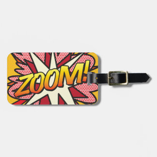 Comic Book Pop Art ZOOM! personalised Luggage Tag
