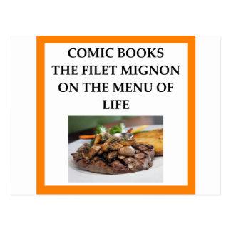 comic book postcard