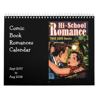 Comic Book Romances Sept 2017 - Aug 2018 Calendar