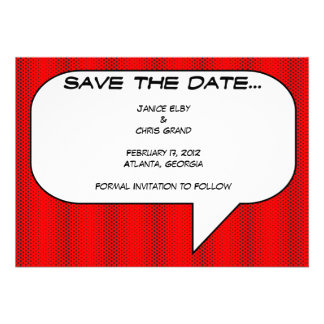 Comic book Save the Date Custom Announcement