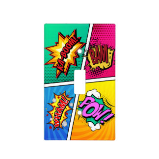 Comic Book Sound Effects Light Switch Cover