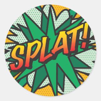 Comic Book SPLAT! Classic Round Sticker