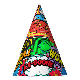 Comic Book Superhero Birthday Party Party Hat