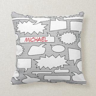 Comic Book Talk Bubble Throw Pillow