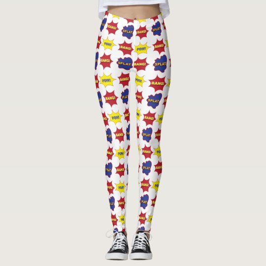 Comic Book Text Bubbles Leggings