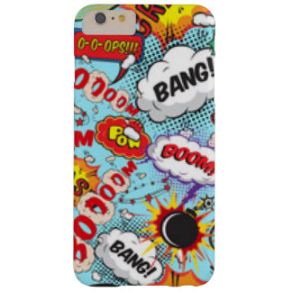 Comic Book Text & Word Bubbles Barely There iPhone 6 Plus Case