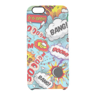 Comic Book Text & Word Bubbles Clear iPhone 6/6S Case