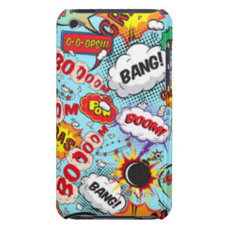 Comic Book Text & Word Bubbles iPod Case-Mate Case