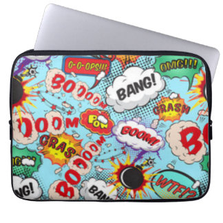 Comic Book Text & Word Bubbles Laptop Sleeve