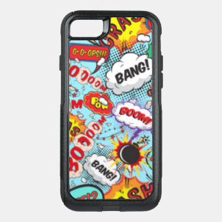 Comic Book Text & Word Bubbles OtterBox Commuter iPhone 8/7 Case
