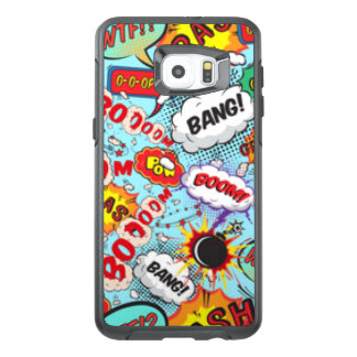 Comic Book Text & Word Bubbles OtterBox Samsung Galaxy S6 Edge Plus Case