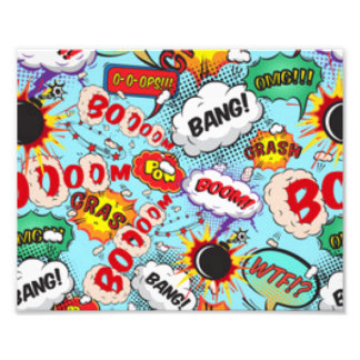 Comic Book Text & Word Bubbles Photo Print