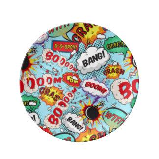 Comic Book Text & Word Bubbles Porcelain Plate