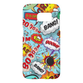 Comic Book Text & Word Bubbles Samsung Galaxy S7 Case