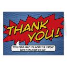 Comic Book Thank You Card