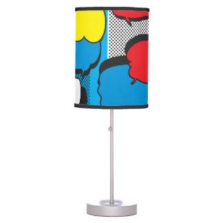 Comic Book Thought Bubbles Table Lamp