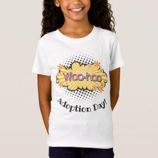 Comic Book WooHoo! Adoption Day Party Girl's Tee
