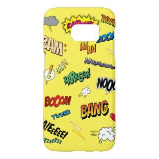 Comic Book (Yellow) Samsung Galaxy S7 Case