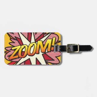 Comic Book ZOOM! personalised luggage tag