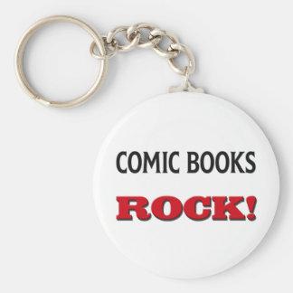 Comic Books Rock Basic Round Button Keychain