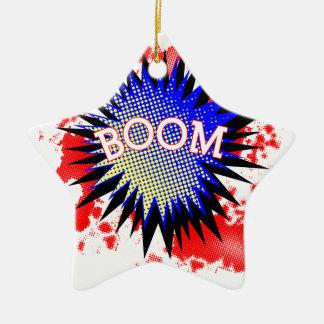 Comic Boom Ceramic Star Ornament