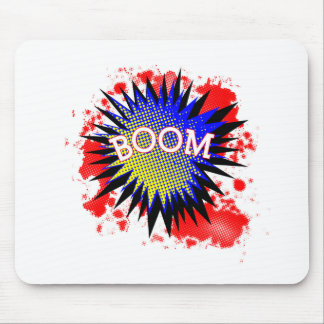 Comic Boom Mouse Pad