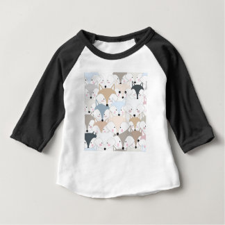 Comic cartoon cute fox or wolf pattern baby T-Shirt