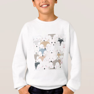 Comic cartoon cute fox or wolf pattern sweatshirt
