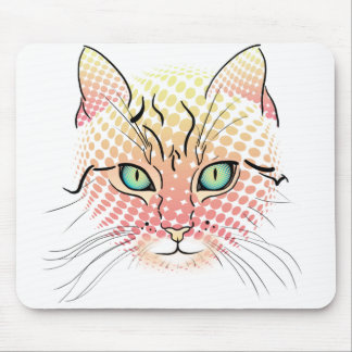 Comic Cat Mouse Pad