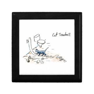 Comic cat treadmill gift box