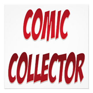 Comic Collector Red Custom Announcements