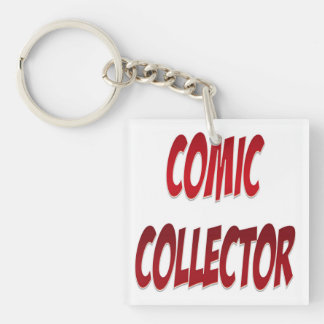 Comic Collector Red Acrylic Keychains