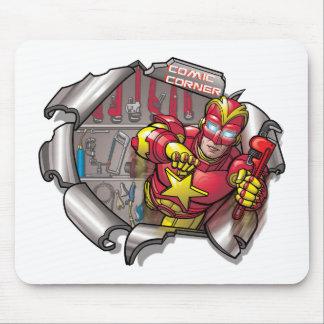 Comic corner mouse pads